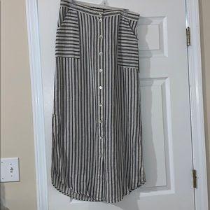 Tahari Linen Midi Skirt